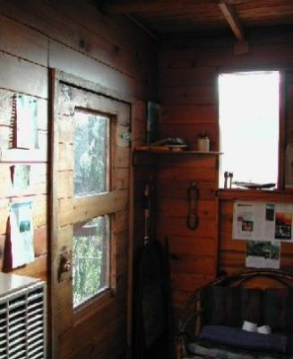 Entrance to Cedar Creek Treehouse as seen from the interior