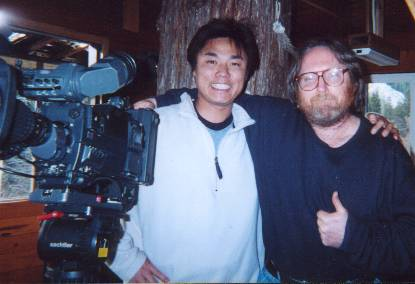 Japanese Television visits the treehouse in February 2002